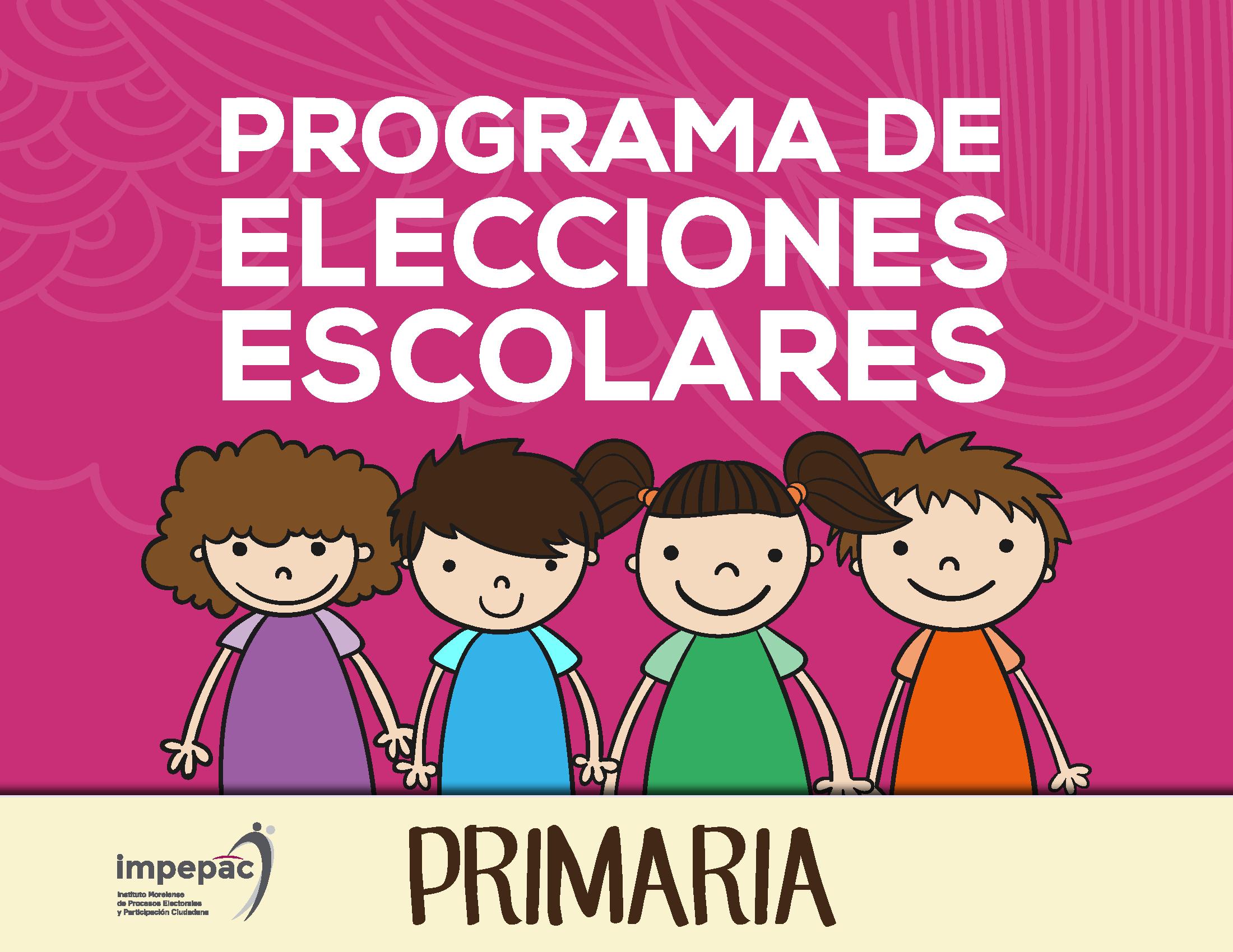 programa elecciones escolares primaria
