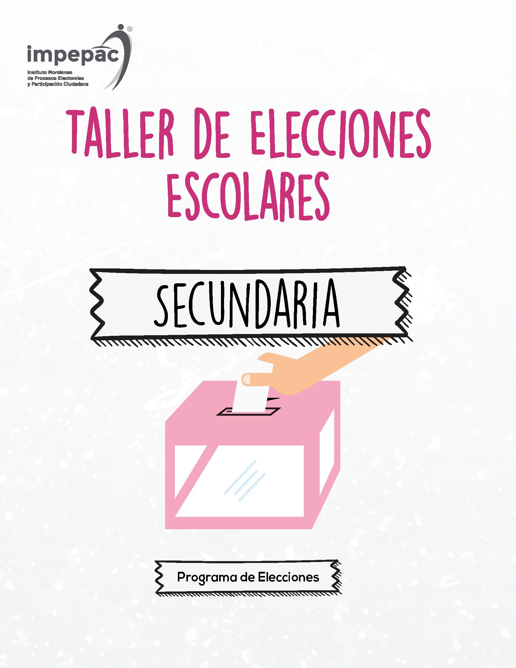 programa elecciones escolares secundaria