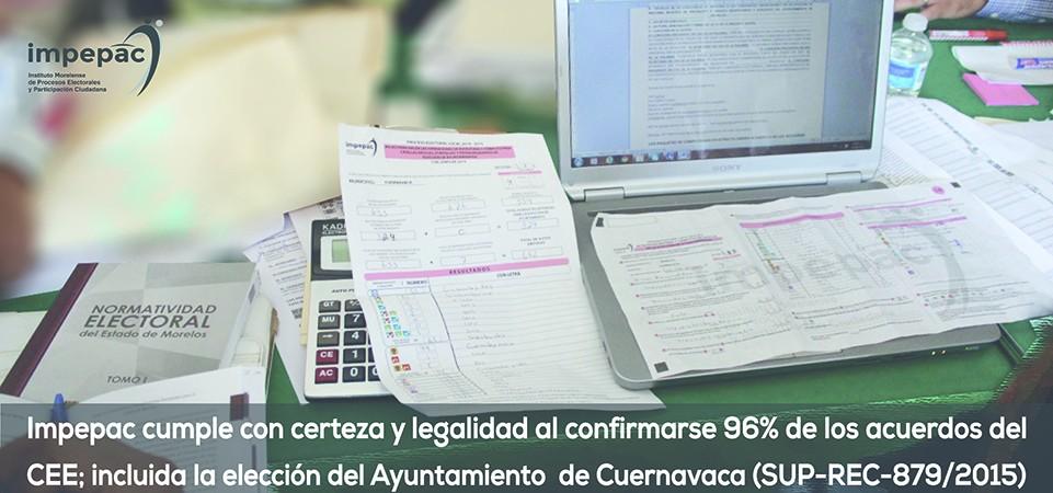 IMPEPAC cumple con certeza y legalidad al confirmarse el 96% de los...