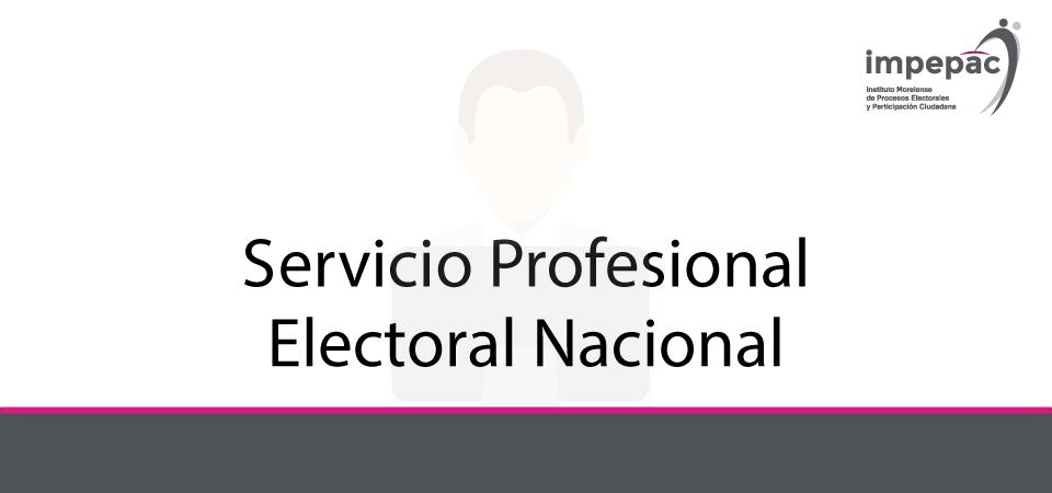 =============    SERVICIO PROFESIONAL ELECTORAL NACIONAL    =============