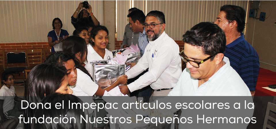 Dona el Impepac artículos escolares a la fundación Nuestros Pequeños...