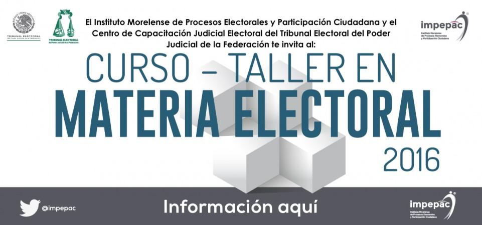 Curso-Taller en Materia Electoral 2016