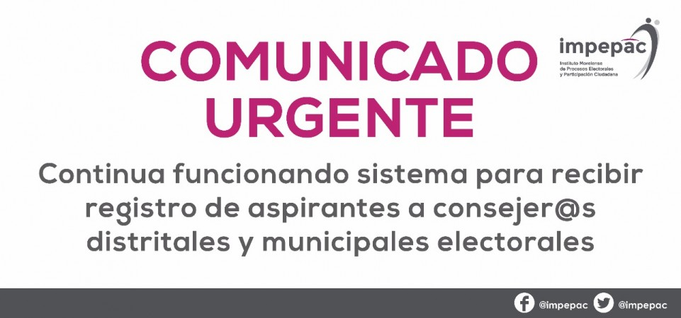 PÁGINA IMPEPAC CONTINUARÁ ABIERTA PARA RECIBIR REGISTRO DE ASPIRANTES A...