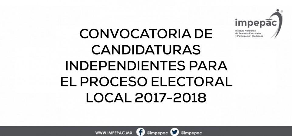 Convocatoria Candidaturas Independientes