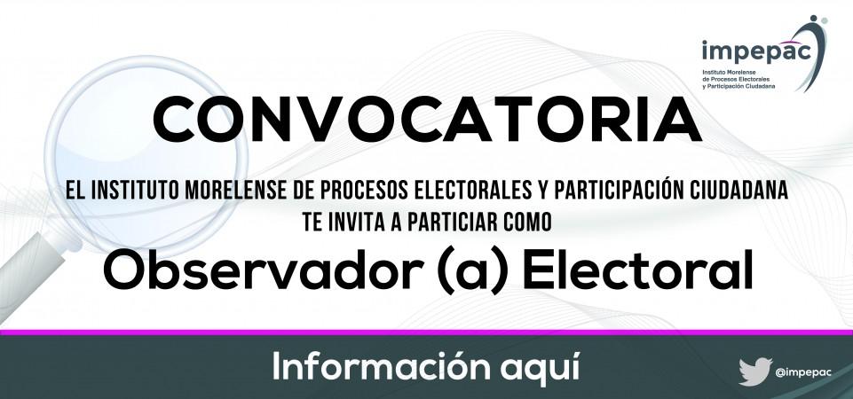 Convocatoria Observador Electoral
