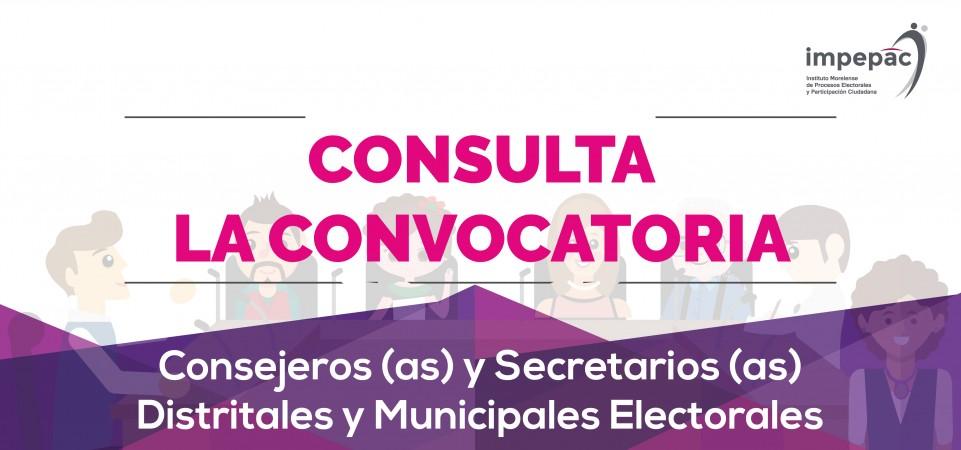Convocatoria para la integración de los Consejos Municipales y Distritales