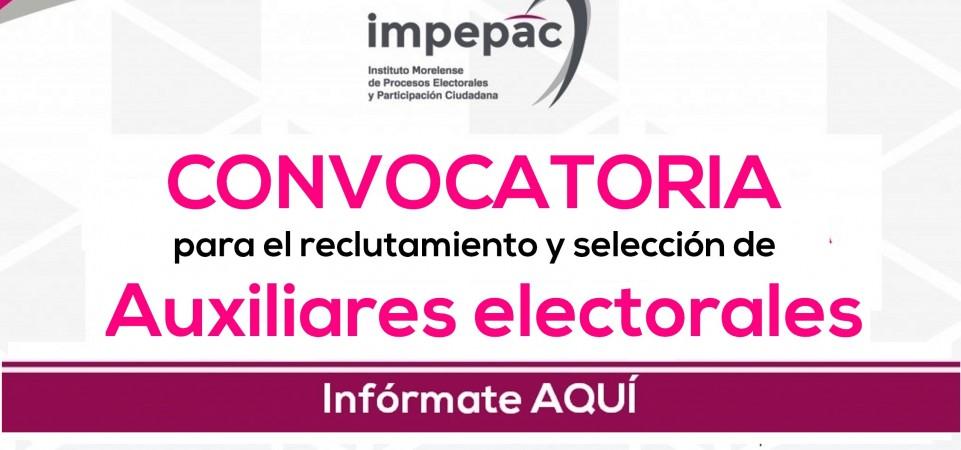 Convocatoria selección de Auxiliares Electorales – Proceso 2017-2018
