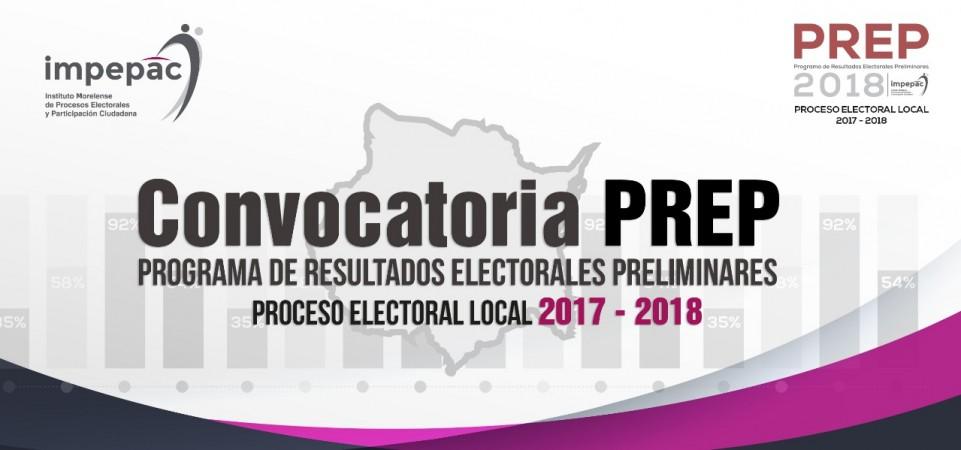 Convocatoria Licitación PREP 2018