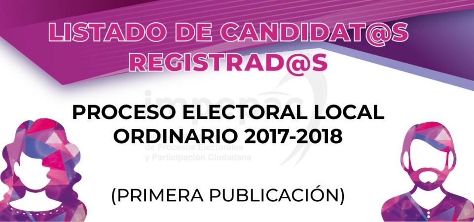 LISTADO DE REGISTRO DE CANDIDATOS 2018