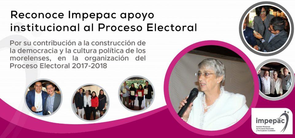 Reconoce Impepac apoyo Institucional al Proceso Electoral