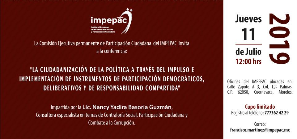 """""""LA CIUDADANIZACIÓN DE LA POLÍTICA A TRAVÉS DEL IMPULSO E..."""