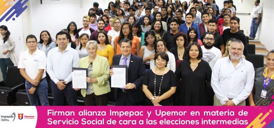 Firman alianza Impepac y UPEMOR en materia de Servicio Social de cara a...