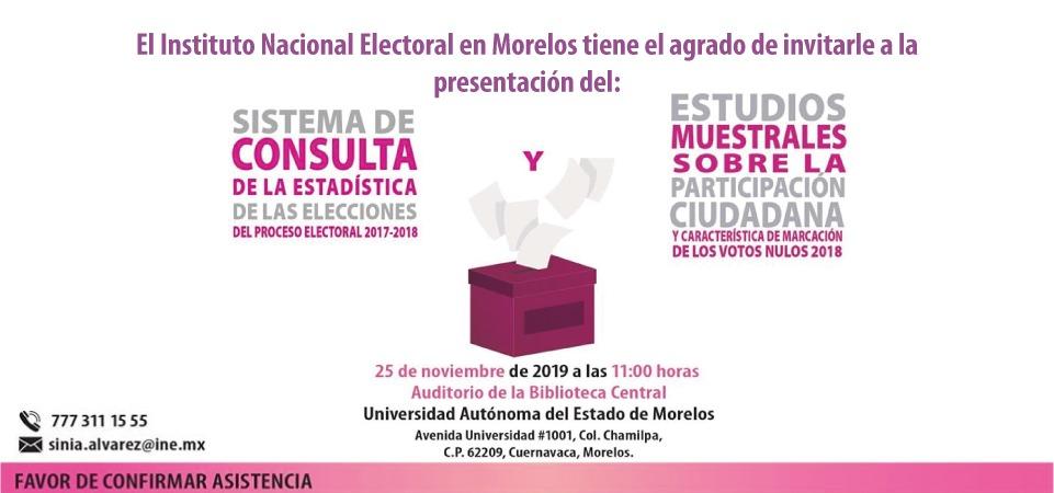 Presentacion del Sistema de Consulta de la Estadistica de las Elecciones...