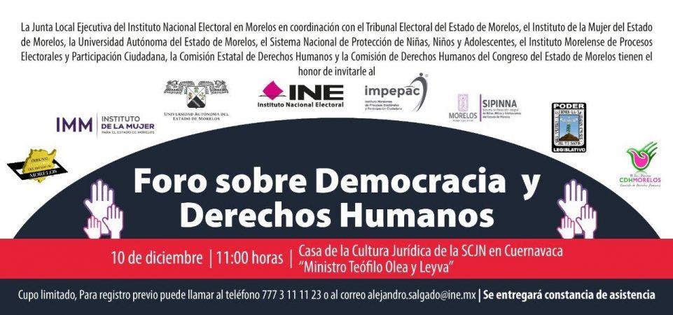 Foro sobre democracia y derechos humanos