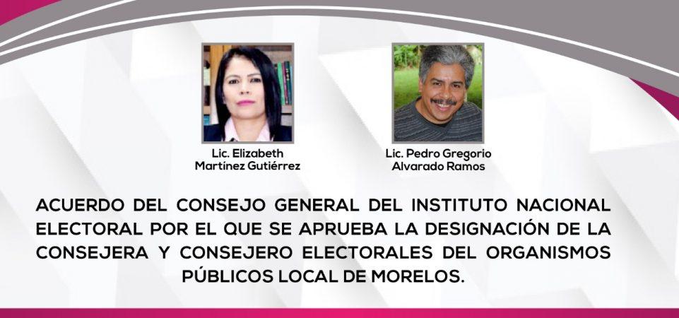 INE/CG293/2020 DESIGNACIÓN DE LAS CONSEJERAS O CONSEJEROS ELECTORALES DE...