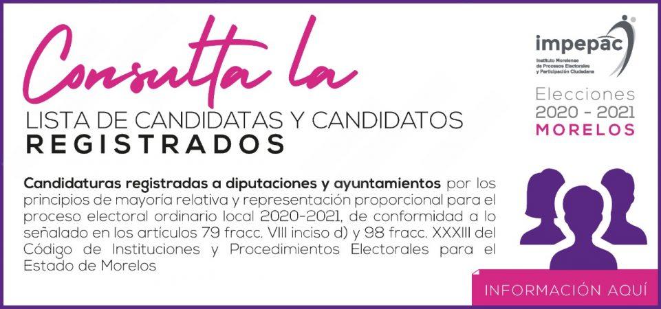 Lista de Candidatas y Candidatos Registrados Proceso Electoral Local...